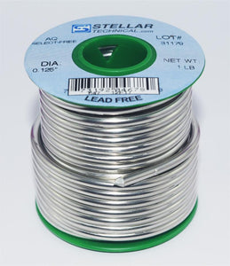 "Aqua Clean Lead-Free 1/8"" Diameter Solid Solder Wire, 1 LB Spool"