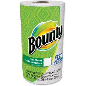 Bounty Full Sheet Paper Towels - 2 Ply - 40 Sheets/Roll - White, 30 Rolls/Case