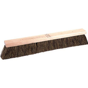 "WEILER 24"" CONTRACTOR BROOM, PALMYRA FILL, HARDWOOD BLOCK, 4"" BRISTLES"