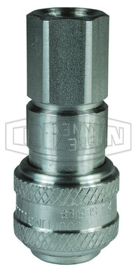 Dixon 2DF2-S D-Series Pneumatic Automatic Female Threaded Coupler, 1/4