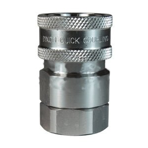 DIXON DQC V-Series Snap-Tite H/IH Interchange Valved Female Coupler, 1/4""