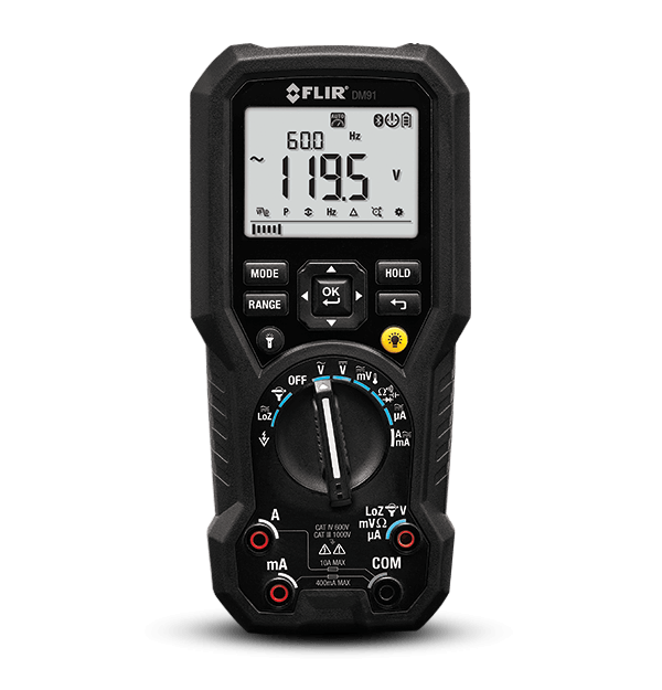 FLIR DM91 Industrial TRMS Multimeter with Datalogging (Wireless)
