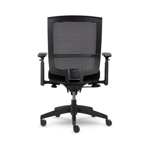 AllSeating Entail MidBack Office Chair 90088-WA-BKN-10N-KD-F-OCDAN