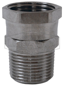 "Dixon 5041212SS Female 3/4"" GHT Swivel x Male NPT Adapter, Stainless Steel"
