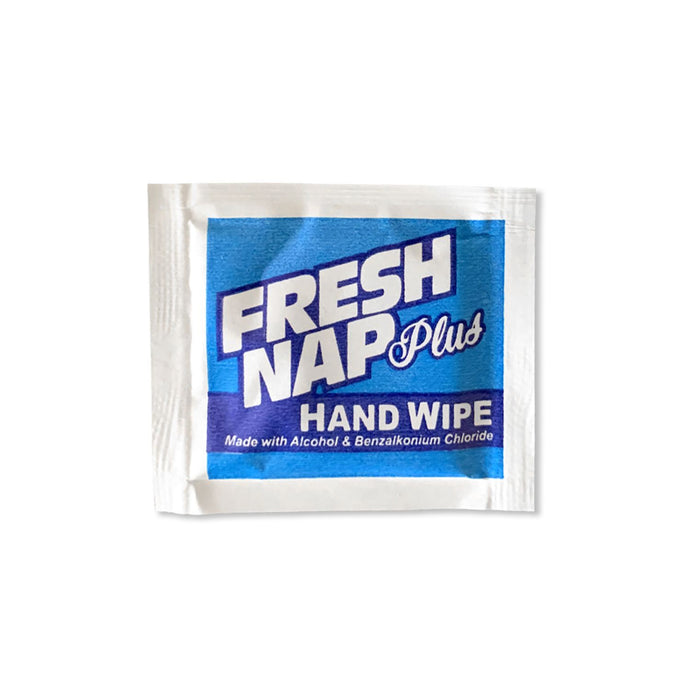Fresh Nap Plus Individually Wrapped Sanitizing Hand Wipes, 1,000/Case
