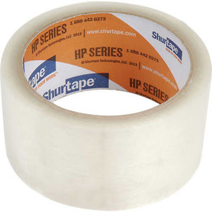 HP100 Clear Carton Sealing Tape, 1.6ML, General Purpose, 48MM X 100MM Rolls, Shurtape