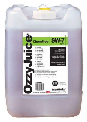 CRC SmartWasher OzzyJuice SW-7 Parts/Brake Cleaning Solution, 5 GAL