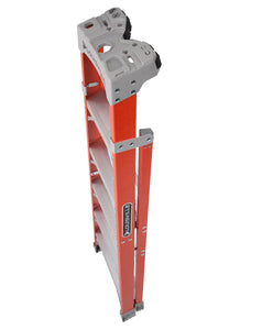Louisville Fiberglass Step To Shelf Ladder FXS1500