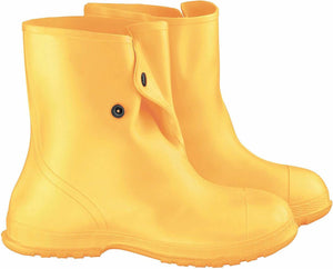 "Onguard 88020 Yellow 10"" Overshoe with 4-Way Cleated Outsole"