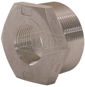 "Dixon HB7525SS NPT Threaded Reducer Hex Bushing, 3/4"" X 1/4"" Reducer"