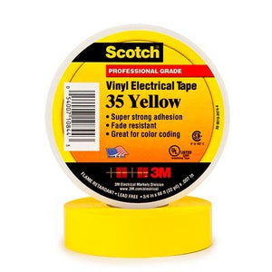 3M Scotch Vinyl Color Coding Electrical Tape 35