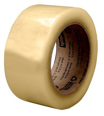 3M Scotch Recycled Corrugate Box Sealing Tape 3071 Clear