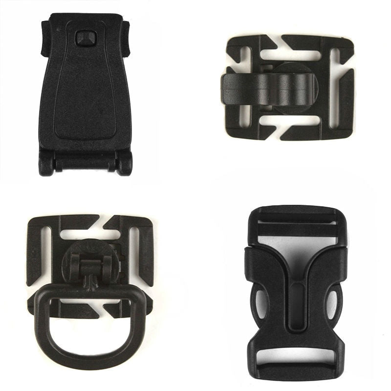 Assorted Tactical Carabiner Buckle Clips