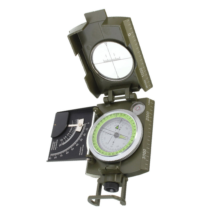 Army Metal Sighting Compass & Clinometer