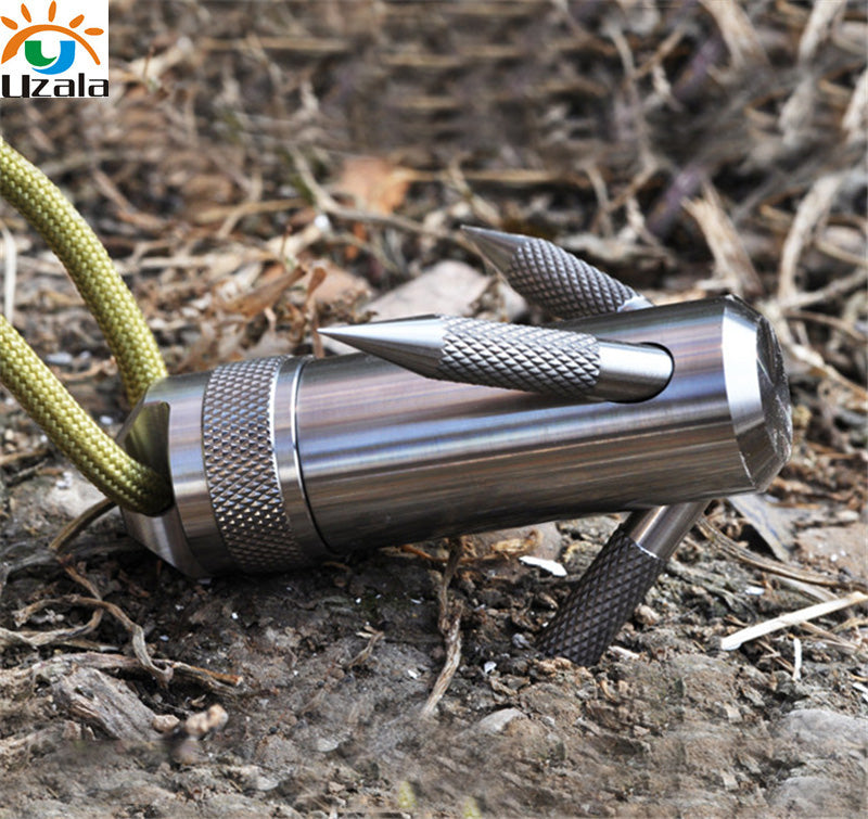 Titanium Capsule Grappling Hook Waterproof Storage