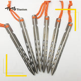 Titanium V Tent Pegs (Set of 6)