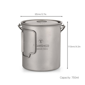 750ml Titanium Pot