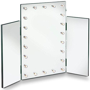 Tri Folding Hollywood Mirror
