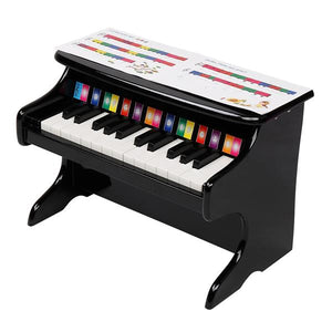 25-key Children's Wooden Piano Black