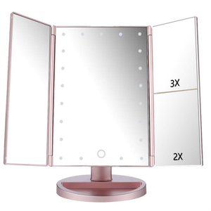 Make Up Mirror 1X/2X/3X Magnifying Light - Rose 🌹