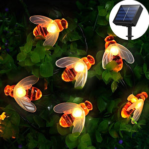 Solar LED Honey Bee Outdoor String Lights