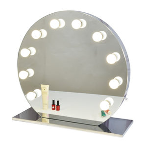 Round Hollywood Makeup Vanity Mirror