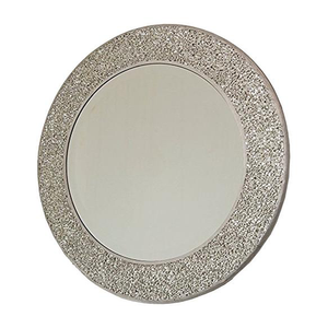 Round Mirror with Handmade Glass Mosaic Frame