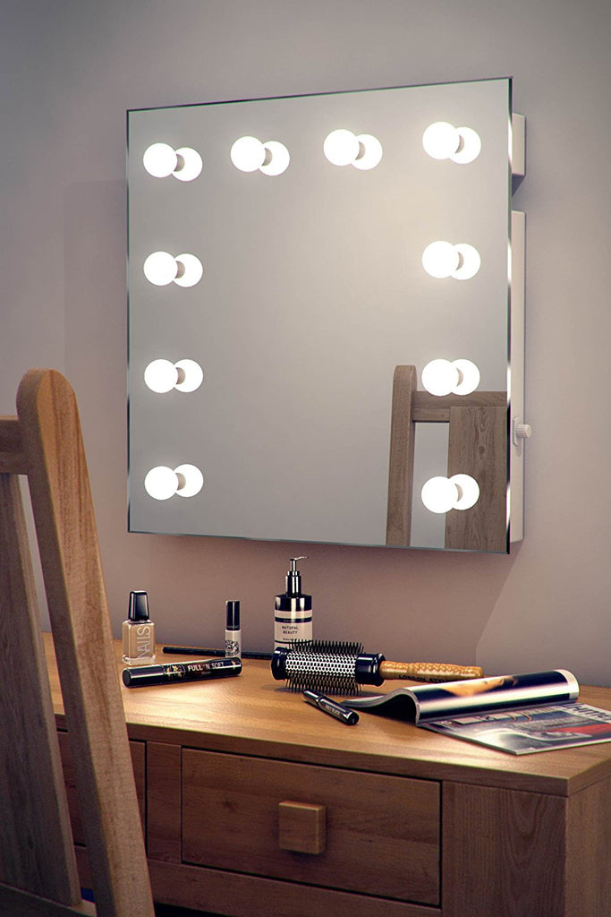Hollywood Lighted Makeup Vanity Mirror With LED Lights - Clear