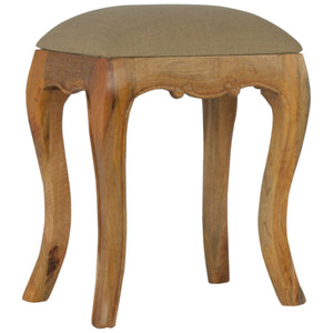 Chantilly Stool with Mud Linen Seatpad