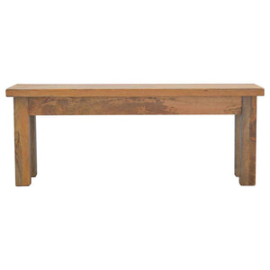 Chunky Solid Wood Bench with Farmhouse Legs