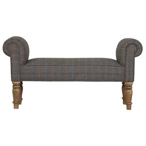 Petite Multi Tweed Bedroom Bench