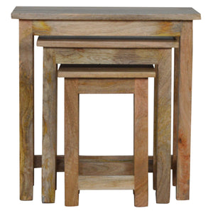 Country Solid Wood Stool Set of 3