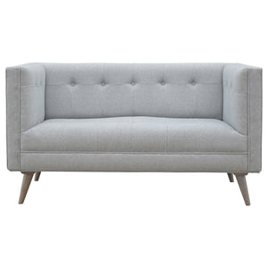 Nordic Style 2 Seater Sofa in Grey Tweed