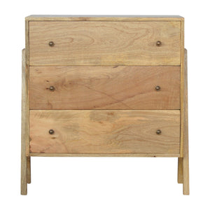 3 Drawer V-shaped Nordic Style Chest