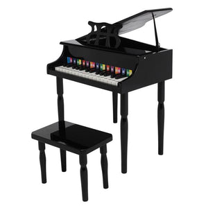 30-key Children's Wooden Piano Black