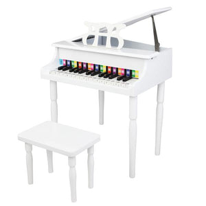 30-Key Children's Wooden Piano White