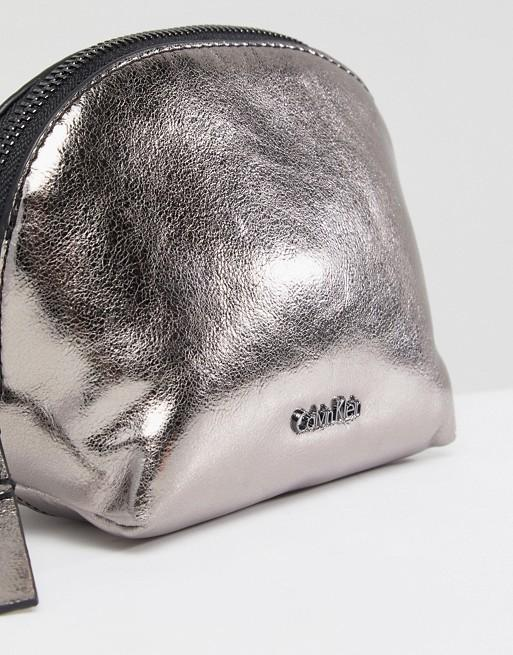 Calvin Klein Metallic Make Up Bag