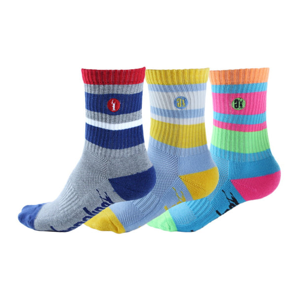 Adrenaline Youth Meshtop 3-Pack Socks