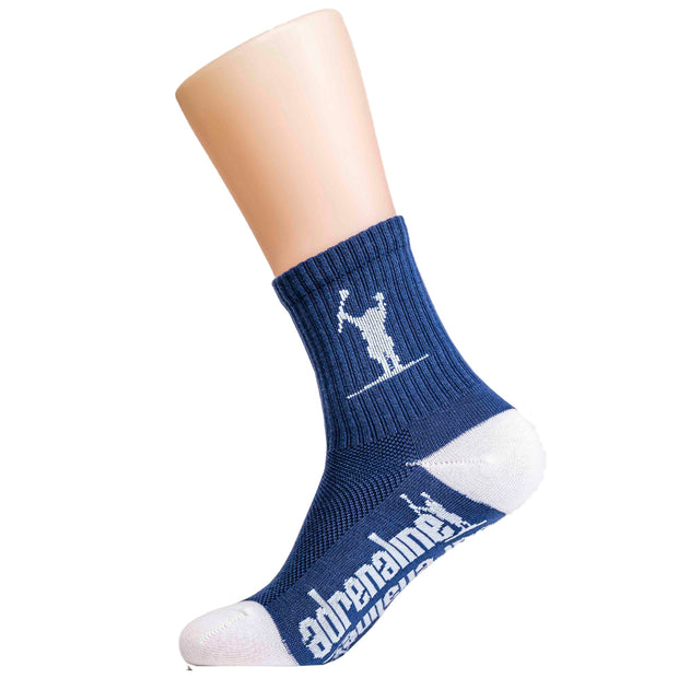 Adrenaline Carlson Youth Meshtop Socks - Navy Blue