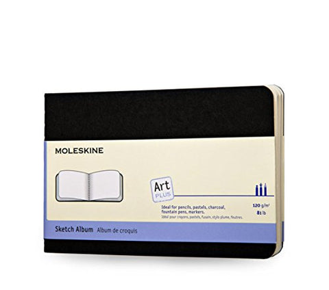 Moleskine Art Plus Sketch Album, Large, Black, Soft Cover (5 x 8.25)