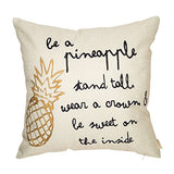 Inspirational Pineapple Pillow Cover (pillow insert not included)