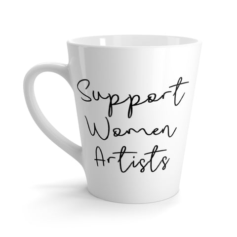 Support Women Artists Latte mug