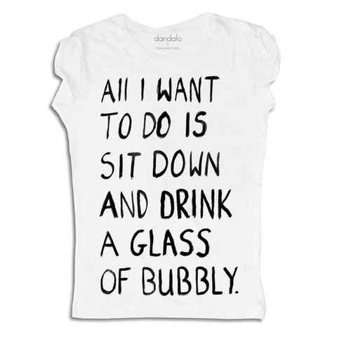 "T-Shirt Donna ""Glass of bubbly"""