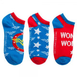 Wonder Woman Ankle Socks, 3 Pack, Licensed DC Comics Merchandise
