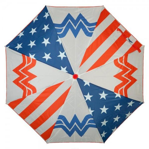Wonder Woman Panel Umbrella, Licensed DC Comics Merchandise