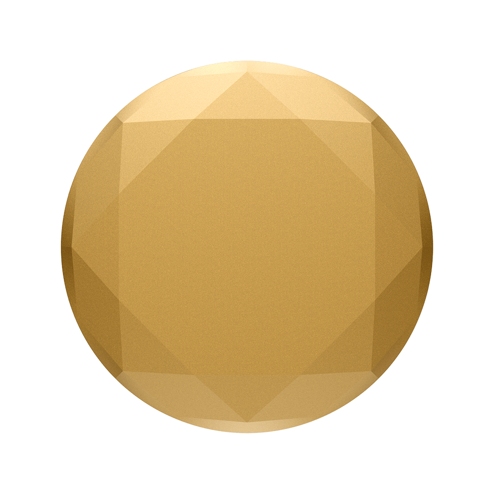 Metallic Diamond Medallion Gold, PopSockets
