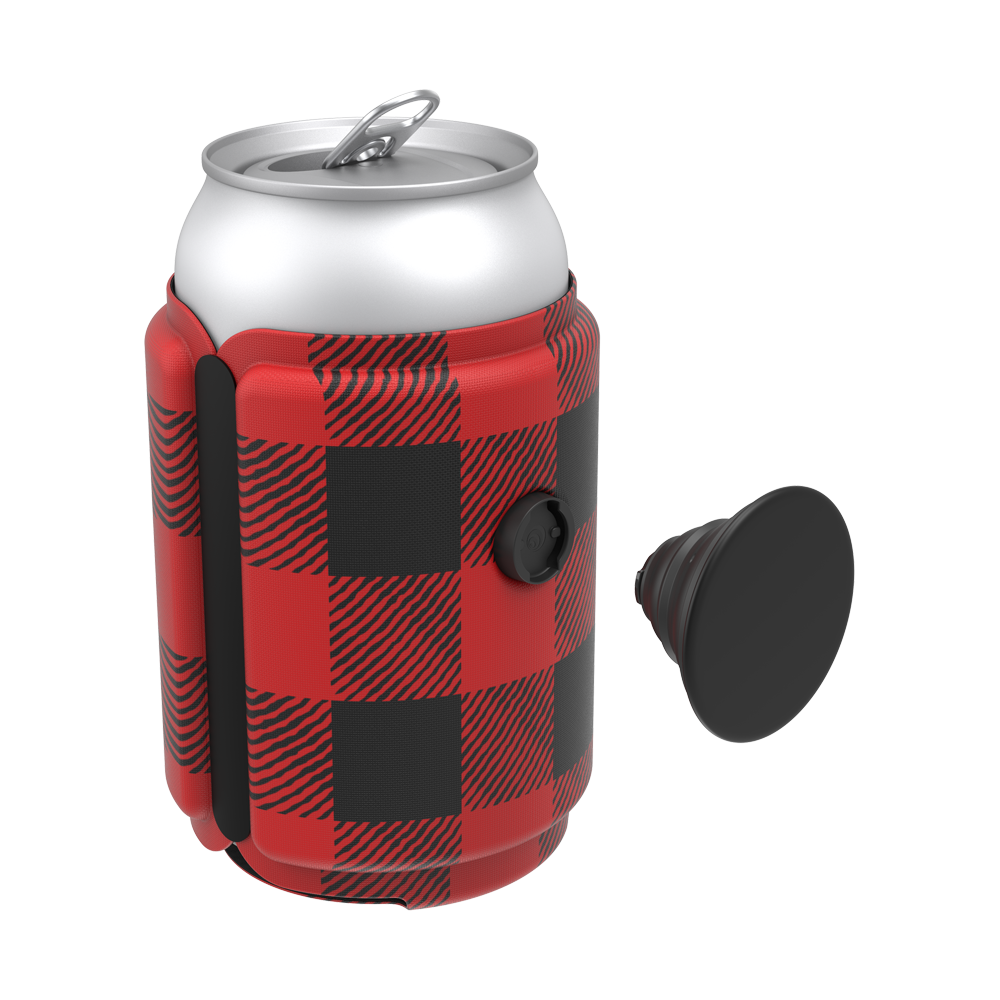 PopThirst Can Holder Classic Check Red