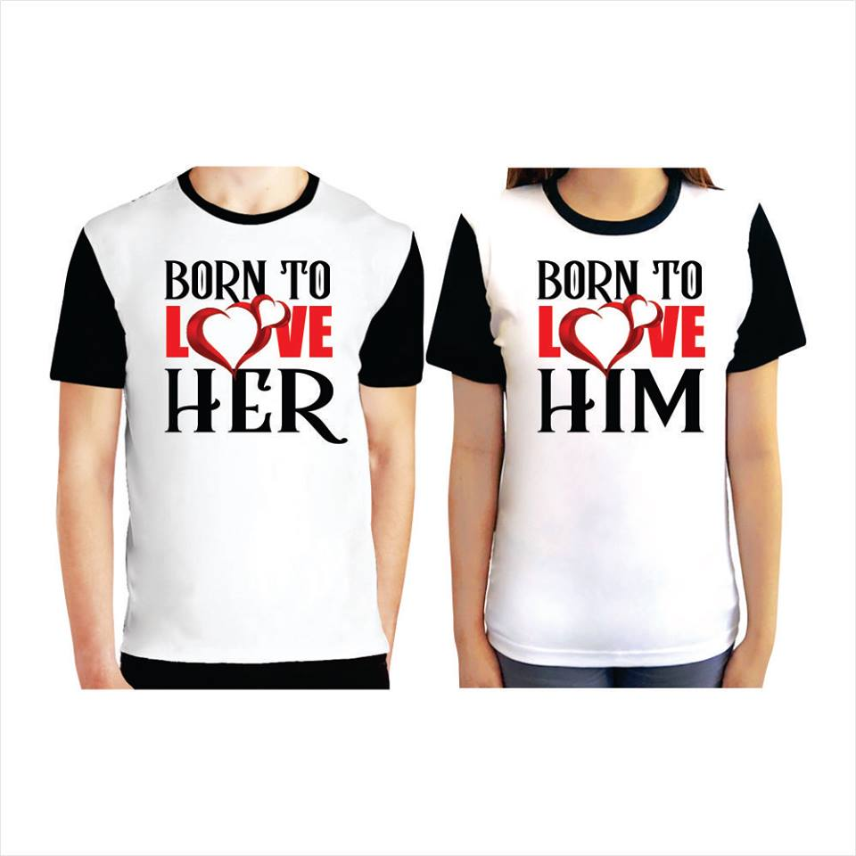 Couple Born To Love Pair T-Shirts (Set)