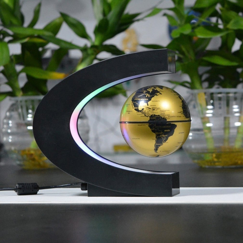 Floating LED World Globe