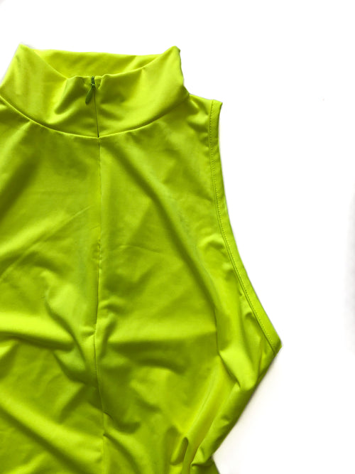 Liza Bodysuit - Neon Yellow